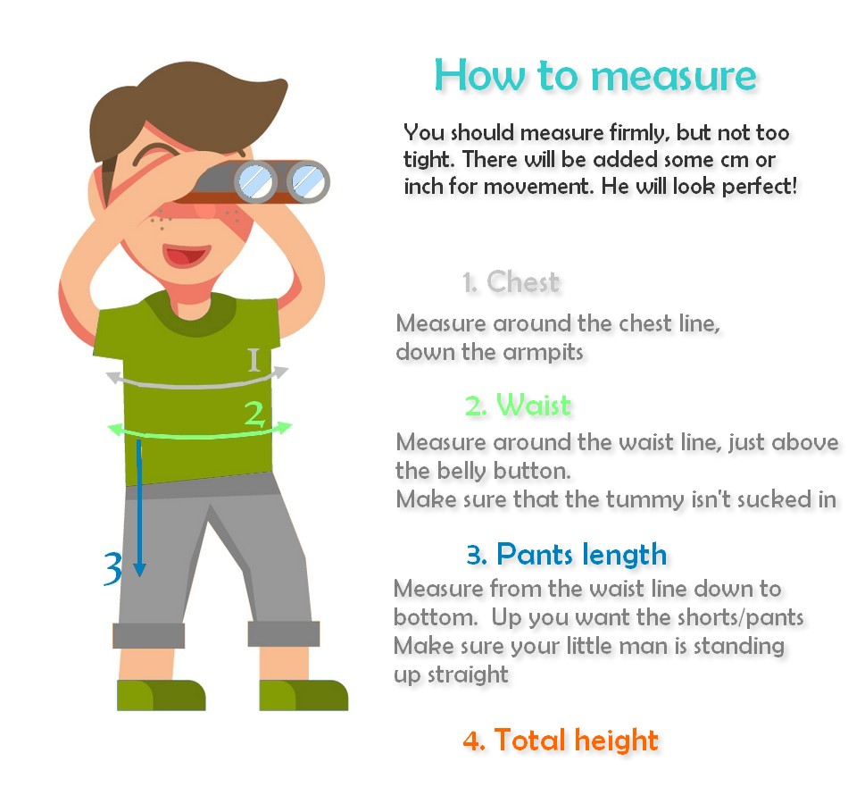 How to measure boy special events special clothing